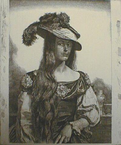 Gerald Leslie Brockhurst, 'The Black Silk Dress', 1927