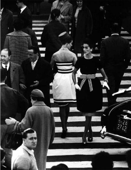 William Klein, 'Nina+Simone 2, Piazza di Spagna, Rome (Vogue)', 1960