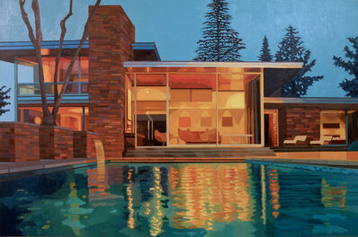 Andy Burgess, 'California Living, Mid-Century Modern House at Dusk', 2015