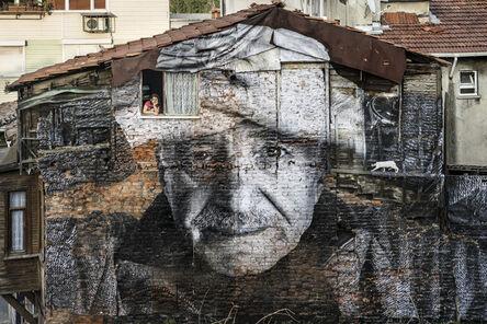 JR, 'The Wrinkles of the city, Istanbul, Ali Yigit, Turkey', 2015