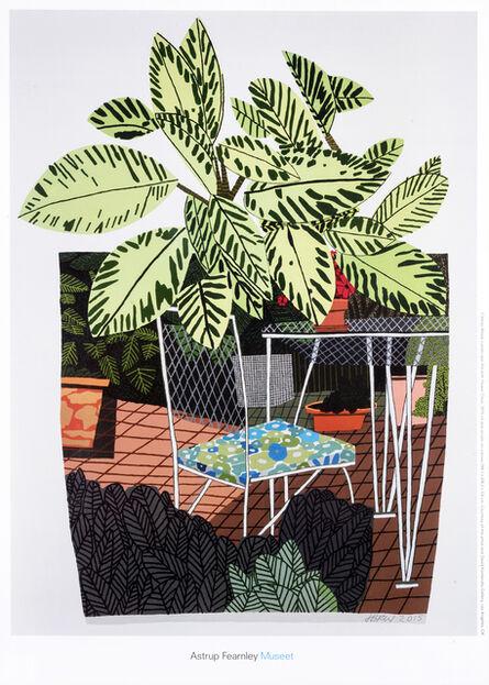 Jonas Wood, 'Landscape Pot With Flower Chair'