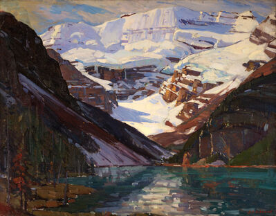 Aldro Thompson Hibbard, 'Sunlit Peak, Lake Louise, Canadian Rockies', 20th Century