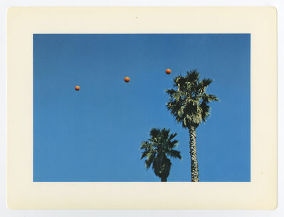 """John Baldessari, '""""Throwing Three Balls in the Air to Get a Straight Line (Best of Thirty-Six Attempts)""""', 1973"""