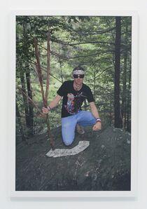 Andrew Jeffrey Wright, 'Swarthmore college woods wearing Dearraindrop', 2003