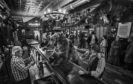 "David Yarrow, '""I've Got One...A Bear Walks Into A Bar..""', 2017"