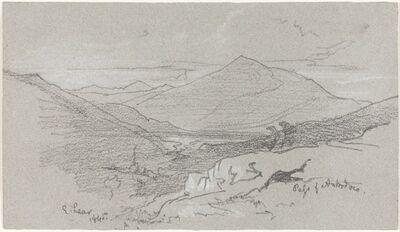 Edward Lear, 'Mountainous View from Antrodoco', 1845