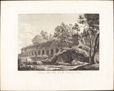 Albert Christoph Dies, 'Avanzi della Villa di M. Bruto a Tivoli', 1794