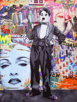 Mr. Brainwash, 'Spray Tray- Charlie Chaplin', 2014
