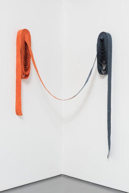 Ulla von Brandenburg, 'Orange trifft Blau [Orange meets blue]', 2015