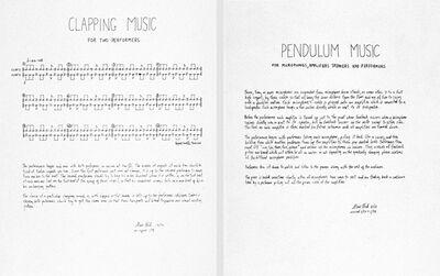 Steve Reich, 'Two Scores', 1978