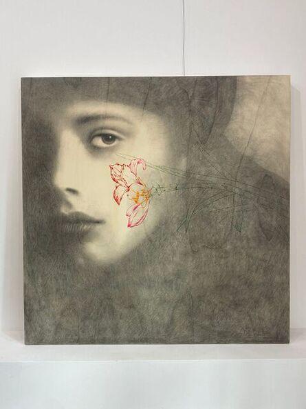 Omar Galliani, 'Floralia', 2015