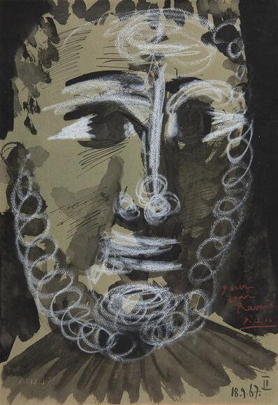 Pablo Picasso, 'Tête de jeune homme barbu', 1967