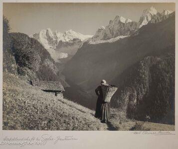 """Albert Steiner, '""""Herbstlandschaft bei Soglio Graubunden""""  (Autumn landscape at Soglio Graubunden)', 1925-1950"""