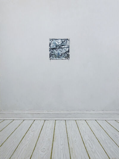 Richard Combes, 'Aluminum Foil Pinned to a Wall', 2018