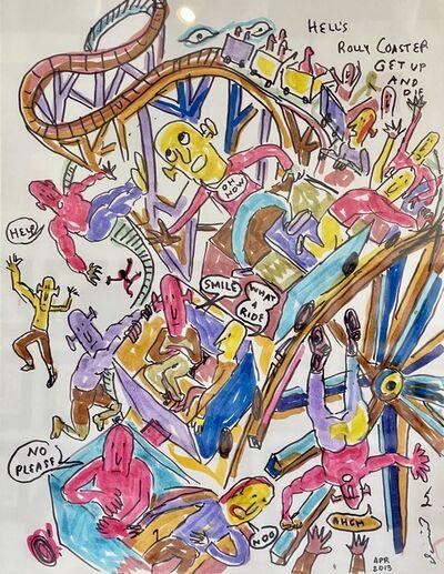 Daniel Johnston, 'Hell's Rolly Coaster', 2013
