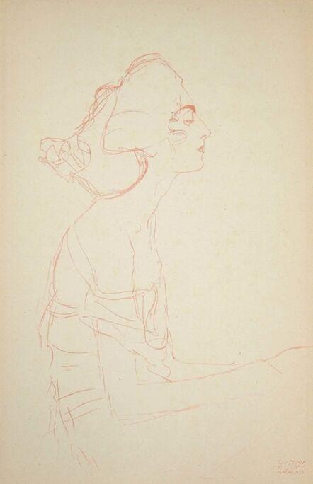 Gustav Klimt, 'Study of a Bust (Red pencil) ', 1919
