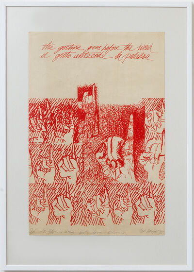 Edward Wright, 'The gesture goes before the word', 1975