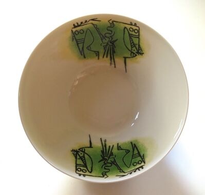 "Wifredo Lam, 'Porcelana di Albisola - 9"" salad bowl', 1970"