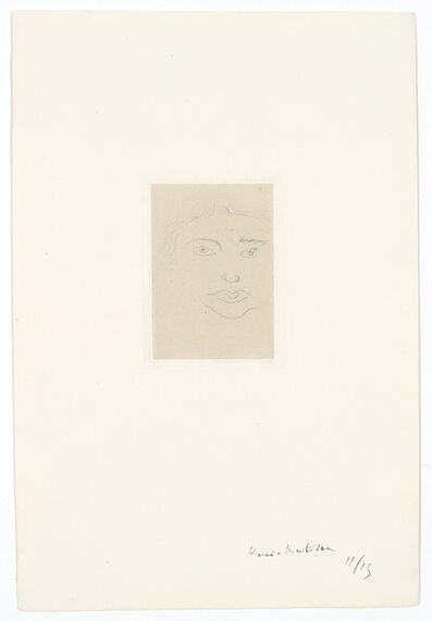 Henri Matisse, 'Irène – Masque', 1914