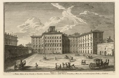 Giuseppe Vasi, 'Palazzo Rospigliosi', 1747