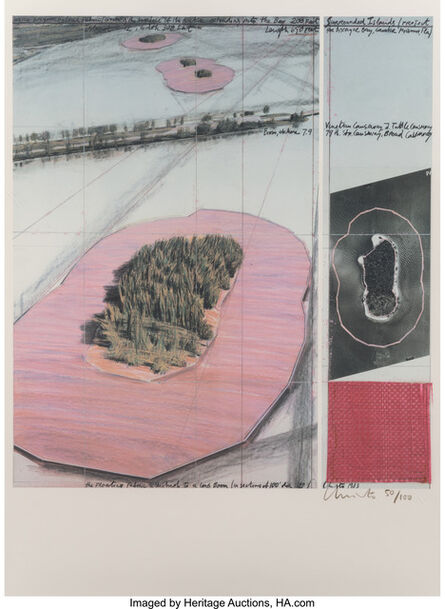 Christo, 'Surrounded Islands, Project for Biscayne Bay, Greater Miami, Florida', 1985