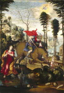 Sodoma, 'Saint George and the Dragon', probably 1518