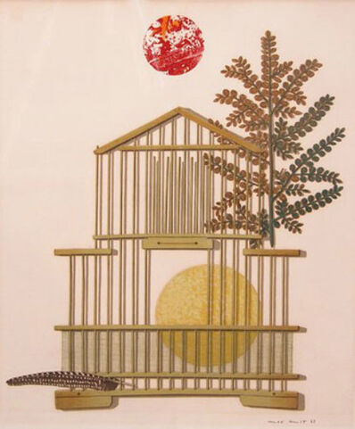 Max Ernst, 'Bird Cage, Feather, Branch and Sun', 1963