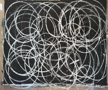 Briggs Edward Solomon, 'Black with Many White Swirls', 2014