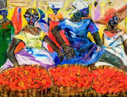 Larry Otoo, 'Palm Fruit Sellers ', 2017