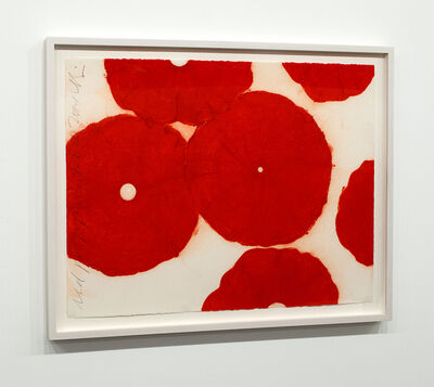 Donald Sultan, 'Red Poppies Feb 20 2014', 2014
