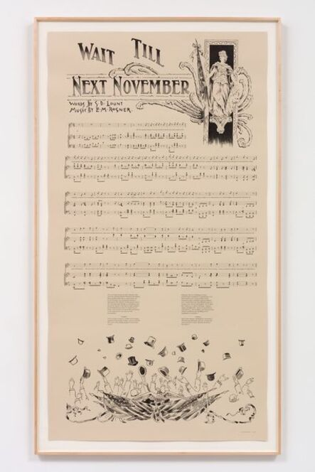 Charles Gaines, 'Notes on Social Justice: Wait Till Next November, (1892)', 2013