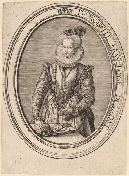 Hendrik Goltzius, 'Countess Francoise D'Egmond', 1580