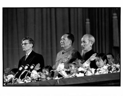 Brian Brake, 'Chairman Mao, Ho Chi Min in the new People's Assembly, Beijing', 1959