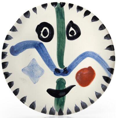 Pablo Picasso, 'Pablo Picasso Madoura Ceramic Plate 'Visage no. 111' Ramié 476', 1963