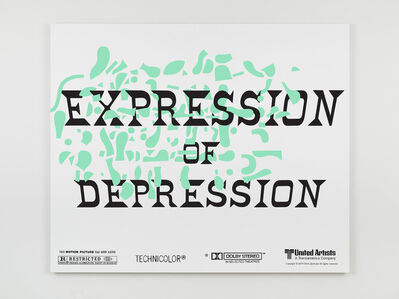 Matthew Brannon, 'Espression of Depression', 2021