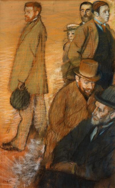 Edgar Degas, 'Six Friends at Dieppe', 1885