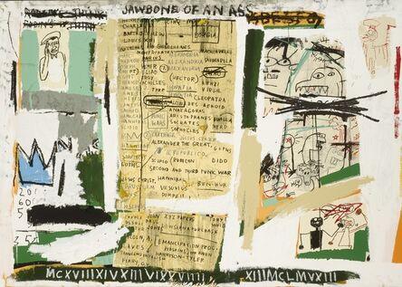 Jean-Michel Basquiat, 'JAWBONE OF AN ASS', 1982/2005