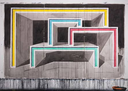 Alexandre Arrechea, 'Structure 342x213 cm/ Triptic', 2016