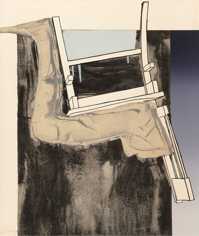 Jasper Johns, 'Leg and Chair, from Fragment - According to What', 1971