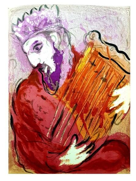 """Marc Chagall, 'Original Lithograph """"Colorful Bible King"""" by Marc Chagall', 1956"""