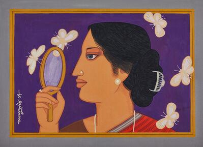Lalu Prasad Shaw, 'Woman with Butterflies', 2017