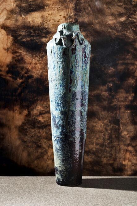 Pierre Adrien Dalpayrat, 'Monumental Eggplant Vase', ca. C. 1900