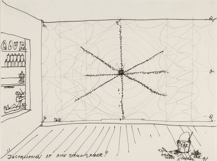 Joe Zucker, 'Installation of Kite String Spider', 1991