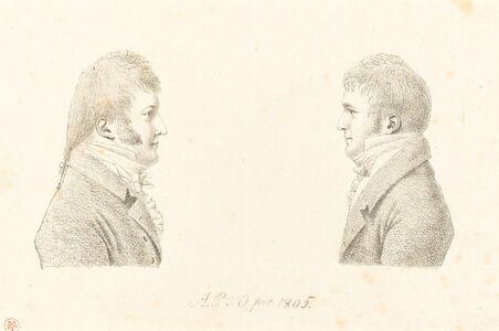 Antoine Marie Philippe Louis d' Orléans, duc de Montpensier, 'Self-Portrait and the Artist's Brother', 1805