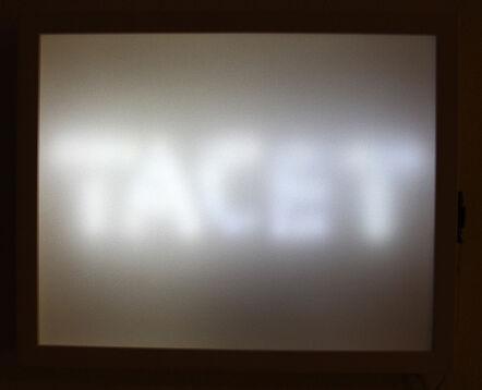 Ulla Rauter, 'Tacet - Stillemelder', 2012
