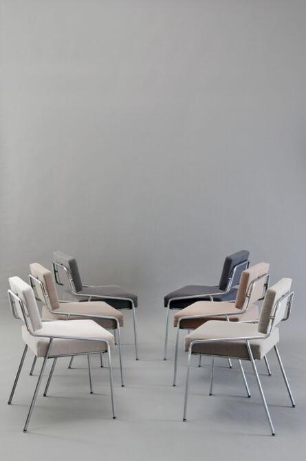 Alain Richard, 'Set of 6 chairs 159 Edition Meubles TV', 1953