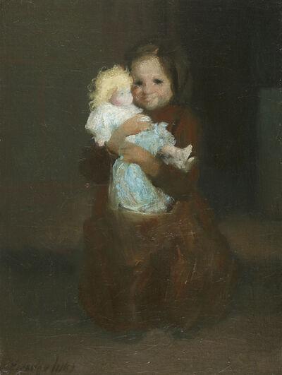 George Benjamin Luks, 'Child with Doll', ca. 1905