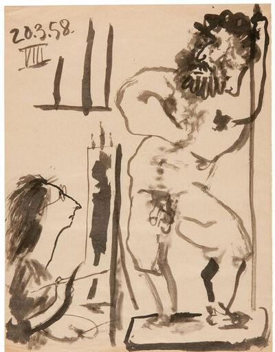 Pablo Picasso, 'Peintre dans son atelier, March 20, 1958'