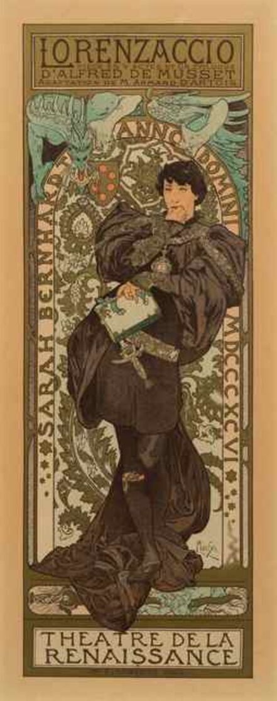 Alphonse Mucha, 'Lorenzaccio (Maitres de l'Affiche pl. 114)', 1898