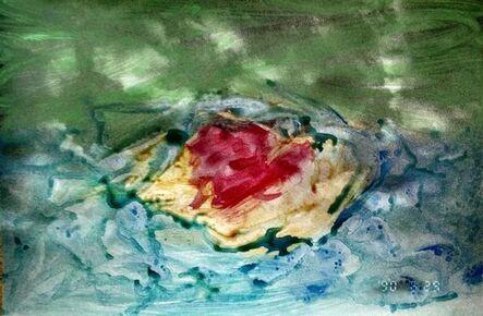 Nobuyoshi Araki, 'Untitled, Painted Photograph, Landscape Nobuyoshi Araki', 1980-1989